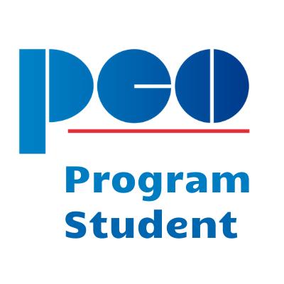 Logo promujące program studencki PEO