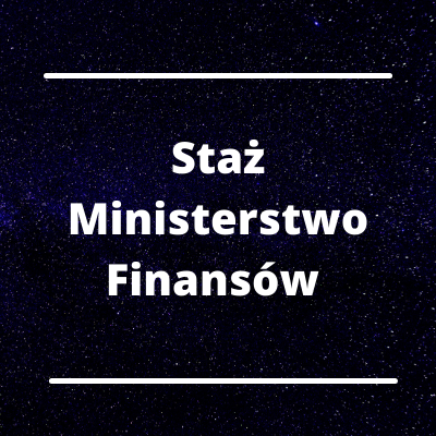 Staż w Ministerstwie Finansów